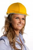 Female Architect With Helmet