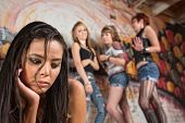 foto of bullying  - Young woman with low self - JPG