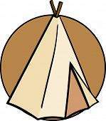 image of tipi  - native american tepee - JPG