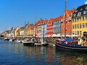 picture of copenhagen  - Nyhavn in Copenhagen Denmark  - JPG