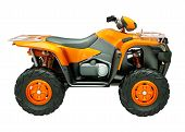 stock photo of four-wheelers  - Sports quad bike isolated on a light background - JPG