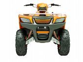 picture of four-wheelers  - Sports quad bike isolated on a light background - JPG