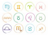 picture of cancer horoscope icon  - Vector illustration of Horoscope signs set eps - JPG