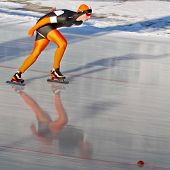 INNSBRUCK, AUSTRIA - JANUARY 18 Bastijn Boele (Netherlands) places 8th in the men's 3000m speed skat