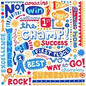 image of prize winner  - The Champ Success Word Doodles - JPG