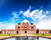 picture of mausoleum  - India Delhi Humayun tomb mausoleum - JPG