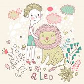 foto of leo  - Cute zodiac sign  - JPG