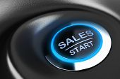 pic of start over  - Sales button with blue light - JPG
