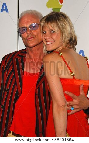 Michael Des Barres and friend at the OmniPeace Benefit To Stop Extreme Poverty in Sub-Saharan Africa. Kitson Men, Los Angeles, CA. 06-21-07