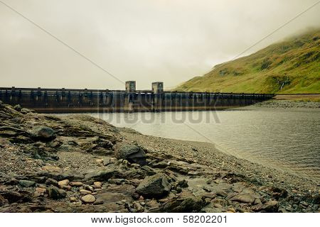 Gloomy View Of A Hydro Power Station