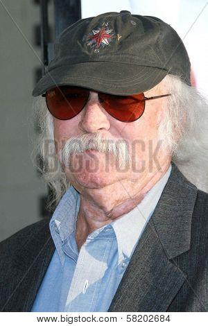 David Crosby at the Los Angeles premiere of