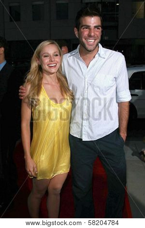 Kristen Bell and Zachary Quinto at the Los Angeles premiere of