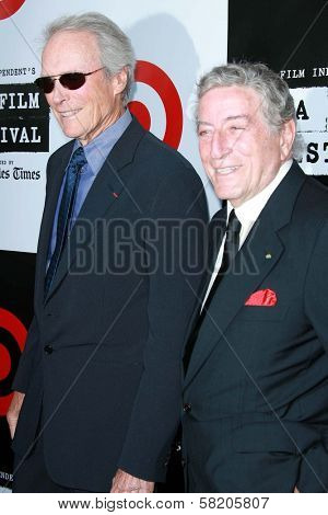 Clint Eastwood and Tony Bennett at the Los Angeles Film Festival 2007 Spirit Of Independence Awards. Billy Wilder Theatre, Westwood, CA. 06-28-07