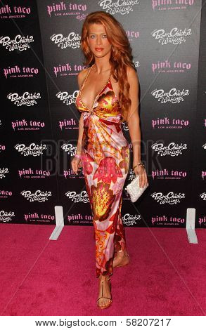 Angie Everhart at the opening of a Los Angeles outpost of Pink Taco. Pink Taco, Westfield Century City Mall, Los Angeles, CA. 06-28-07