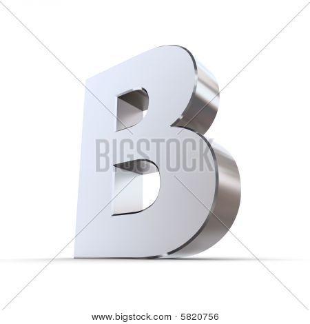 Shiny Letter B