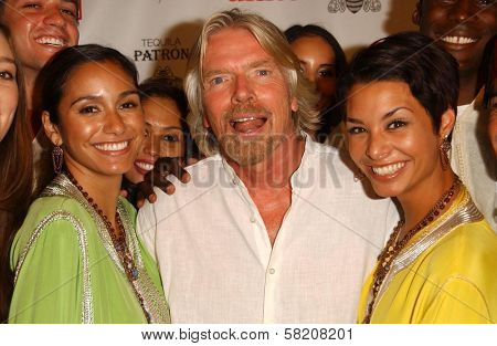Nicole Lemoine with Richard Branson and Lara La Rue at Rock The Kasbah presented by Virgin Unite. Roosevelt Hotel, Hollywood, CA. 07-02-07