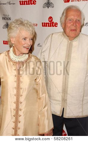 Eve Branson and husband at Rock The Kasbah presented by Virgin Unite. Roosevelt Hotel, Hollywood, CA. 07-02-07