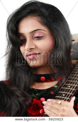 Dreamy Female Guitarist