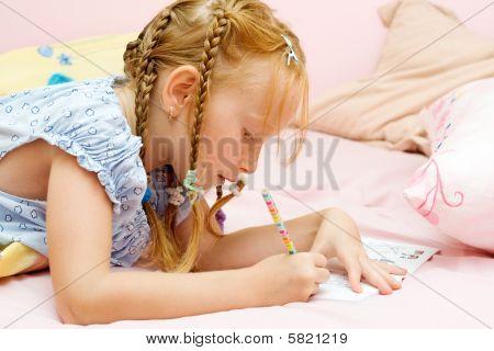 junges Mädchen Zeichnung