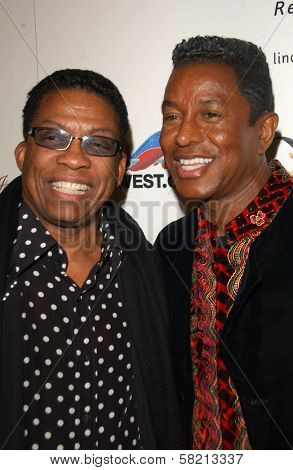 Herbie Hancock and Jermaine Jackson at Ebony's Pre-Oscar Celebration