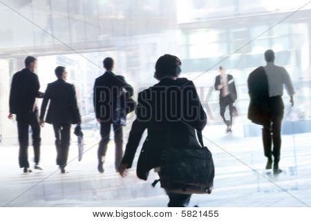 Trabalhadores de escritório, Desfoque de movimento.