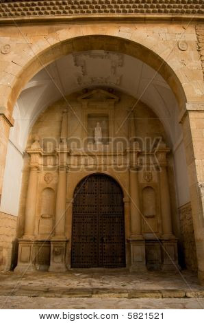San Antonio Abad Church In El Toboso. Spain. Plateresque Church. Cited In Quijote