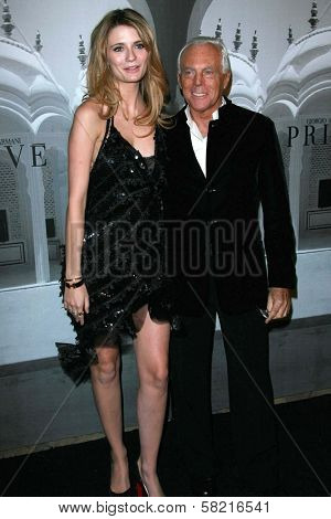 Mischa Barton and Giorgio Armani at the Giorgio Armani Prive Show to celebrate the Oscars. Green Acres, Los Angeles, CA. 02-24-07