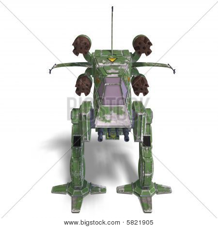 Futuristic Transforming Scifi Robot And Spaceship