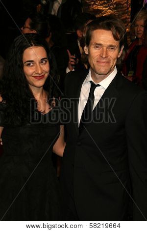 Giada Colagrande and Willem Dafoe at the 2007 Vanity Fair Oscar Party. Mortons, West Hollywood, CA. 02-25-07