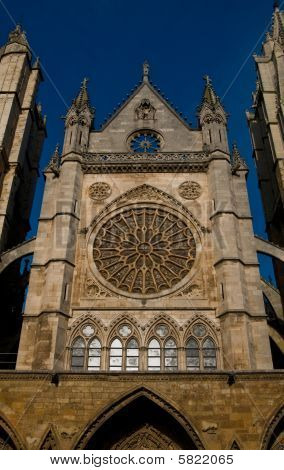Cathedral Of Leon In Spain