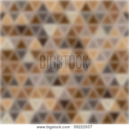 Blurred triangles