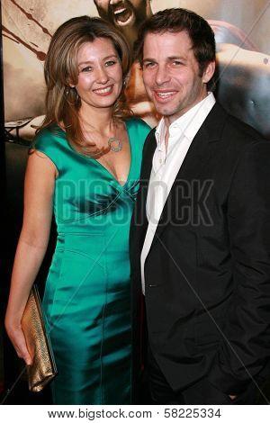 Deborah Snyder and Zack Snyder at the Los Angeles premiere of