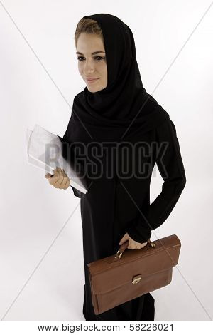 Arab Woman All Set For Her New Job