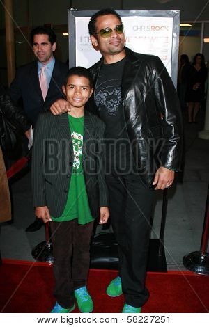 Mario Van Peebles and Marley Van Peebles at the premiere of