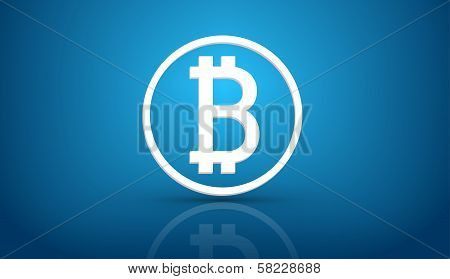 Bitcoin blue background
