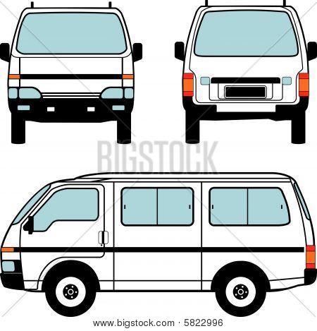 Minivan Car, Vector Shapes