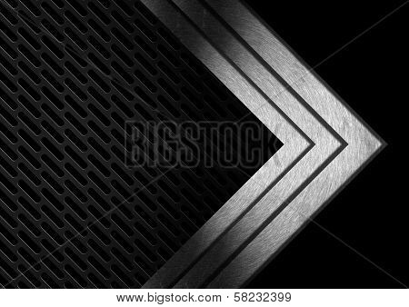 Dark Metal Abstract Background With Arrows