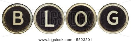 Blog In Old Typewriter Keys