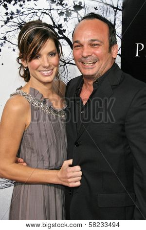 Sandra Bullock and Mennan Yapo at the World Premiere of