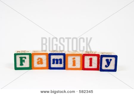 Family In Block Letters