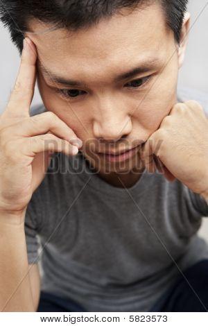 Asian Man In Depression