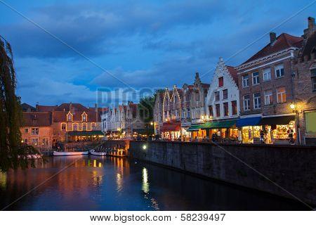 night scene of Brugge