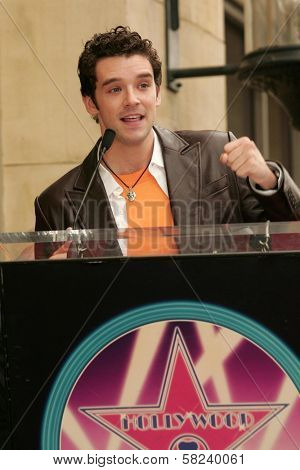 Michael Urie at the award ceremony honoring Vanessa Williams with a star on the Hollywood Walk of Fame. Hollywood Blvd., Hollywood, CA. 03-19-07
