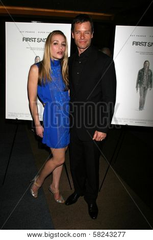 Piper Perabo and Guy Pearce at the Los Angeles premiere of