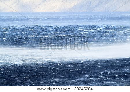 Raging Sea With Furious Waves