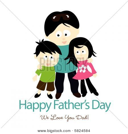 Father's Day Isolated Graphic