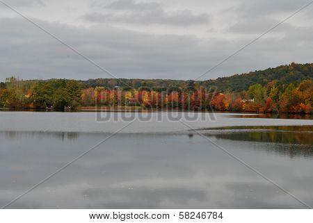 Autumn Lake with Fall Folliage