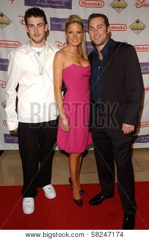 Jordan McGraw with Erica Dahm and Jay McGraw at Starlight Starbright Children's Foundation's