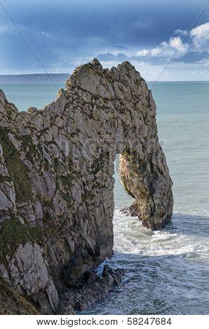 Durdle Door stone arch, England