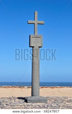 Replica Of The Cross Planted At Cape Cross, Namibia